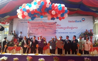 Ground Breaking Ceremony Vientiane Bank Office Building