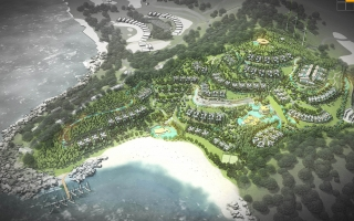 Loc Binh luxury resort - 1:500 Planning 03 options