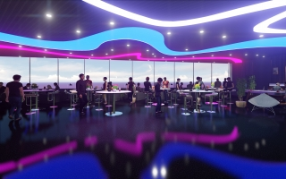 Oceanami Ho Tram Resort - Sky Bar interior